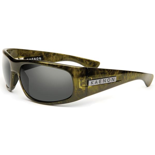 Kaenon Polarized Lewi Green G12 Sunglasses Green Tortoise Frames with Gray Lenses