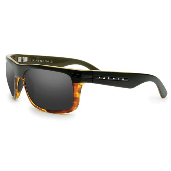Kaenon Polarized Burnet G12 Sunglasses Matte Black and Shiny Tortoise Frames with Gray Lenses Black/orange