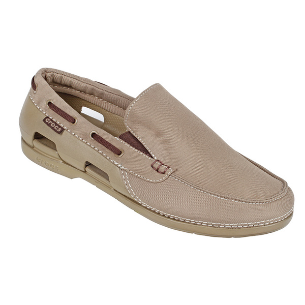 Crocs Men's Beach Line Slip On Khaki Sale $39.88 SKU: 15972185 ID# 15386-261-640 UPC# 887350125832 :