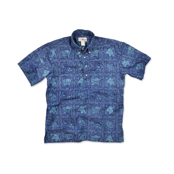 Reyn Spooner Men's Lahaina Sailor Woven Shirt Blue