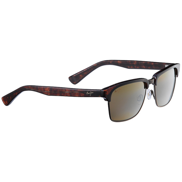 Maui Jim Kawika Polarized Sunglasses Tortoise Frames with Antique Gold with HCL Bronze Lenses Tortoise/brown