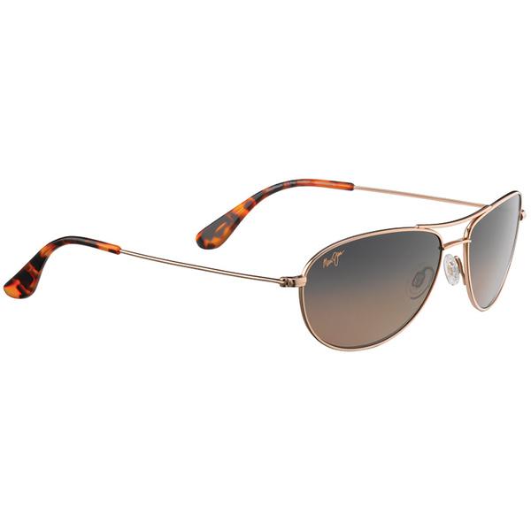 Maui Jim Baby Beach Polarized Sunglasses Gold Frames with HCL Bronze Lenses Gold/bronze