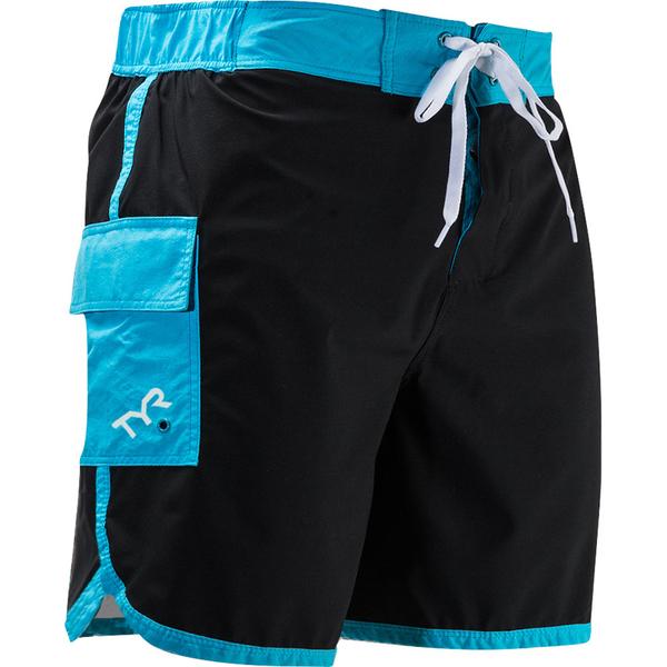 TYR Men's Bulldog Solid Boardshorts Black/blue Sale $10.55 SKU: 16324071 ID# BSSB5A-011-M UPC# 36702111607 :