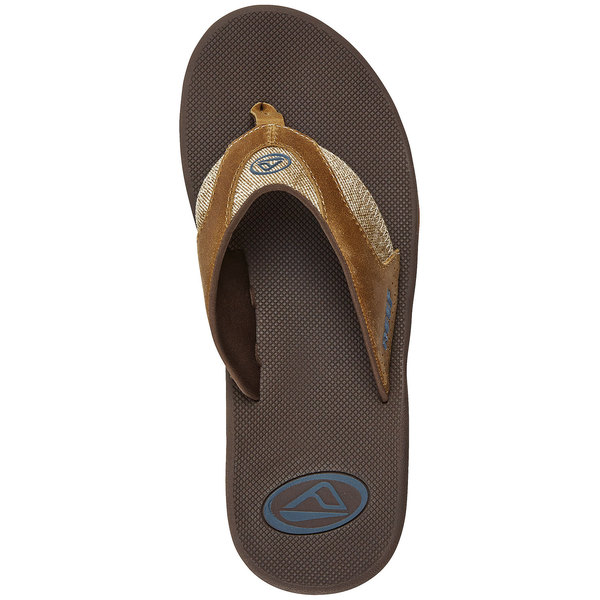 Reef Men's Leather Fanning Sandals Brown