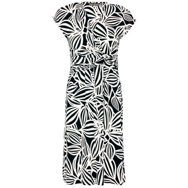 Tommy Bahama Women's Bosa Blossoms Cap-Sleeve Dress Black