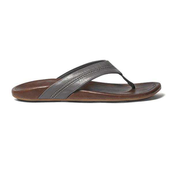 Olukai Men's Maka Sandals Grey/black Sale $100.00 SKU: 15942378 ID# 10237-4995-30 UPC# 883956164466 :