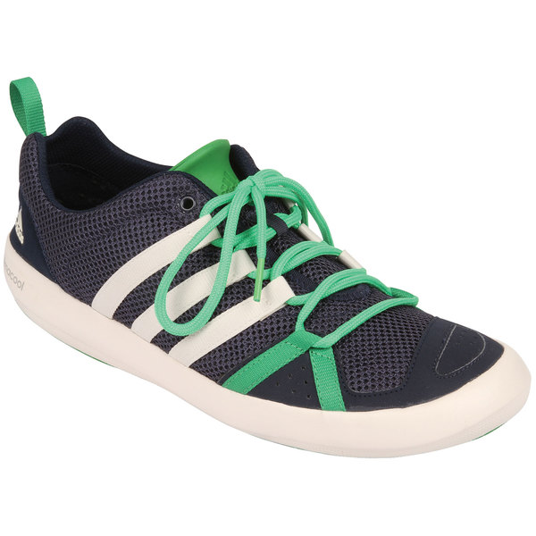 Adidas Men's Climacool Boat Lace Shoes Mdnt Gry/chlk Wt/sgnl Grn