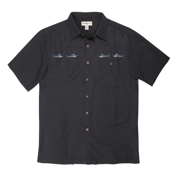 Hook & Tackle Men's Marlin Bones Shirt Black