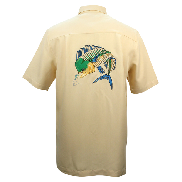Hook & Tackle Mens Mahi Bones Shirt Yellow Sale $59.99 SKU: 15965940 ID# M011258 740 M UPC# 753899528420 :
