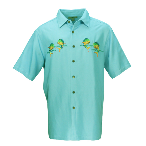 Hook & Tackle Mens Lets Dance Shirt Turquoise