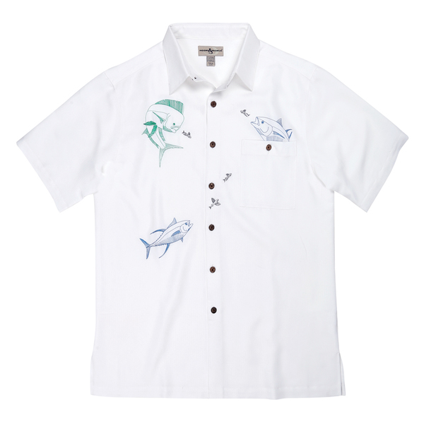 Hook & Tackle Mens Fish Bounty Shirt White