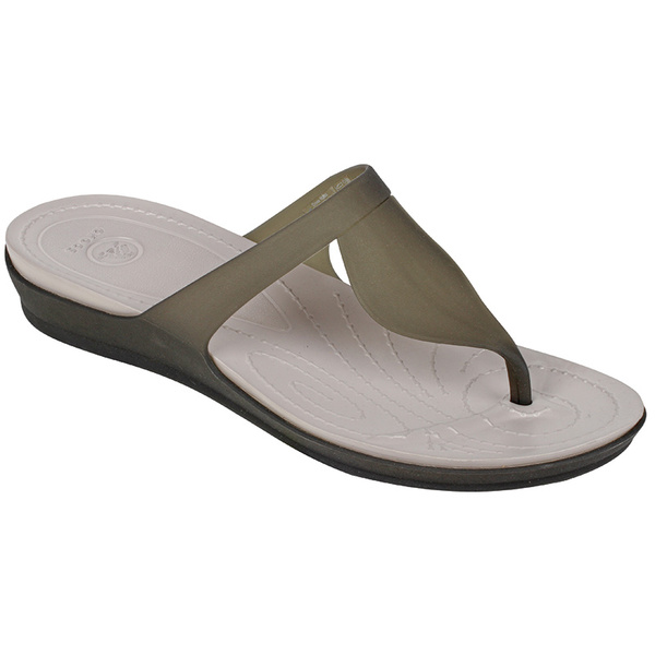 Crocs Women's Rio Flip-Flops Black/gray