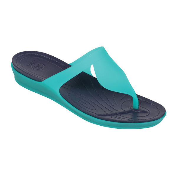 Crocs Women's Rio Flip Teal/navy