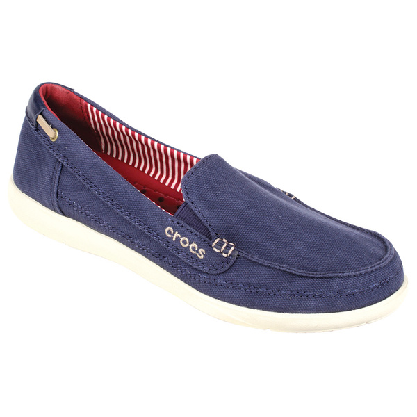 Crocs Women's Walu Boat Shoes Nautical Navy/stucco Sale $34.77 SKU: 15971120 ID# 200482-48T-480 UPC# 887350378221 :