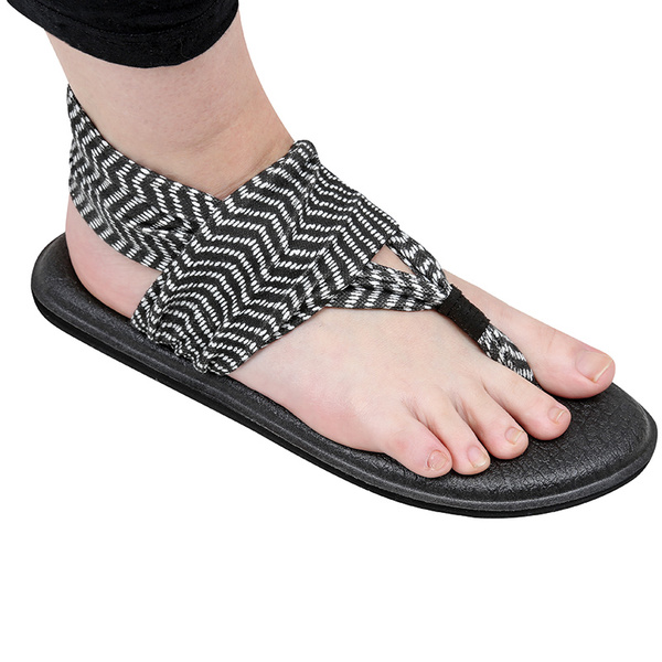 Sanuk Shoes Women's Yoga Sling 2 Print Sandals Gray Stripe