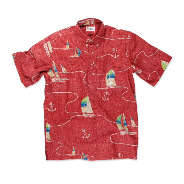 Reyn Spooner Men's Boat Lines Woven Shirt Red Sale $66.75 SKU: 15991797 ID# 100125189965M :