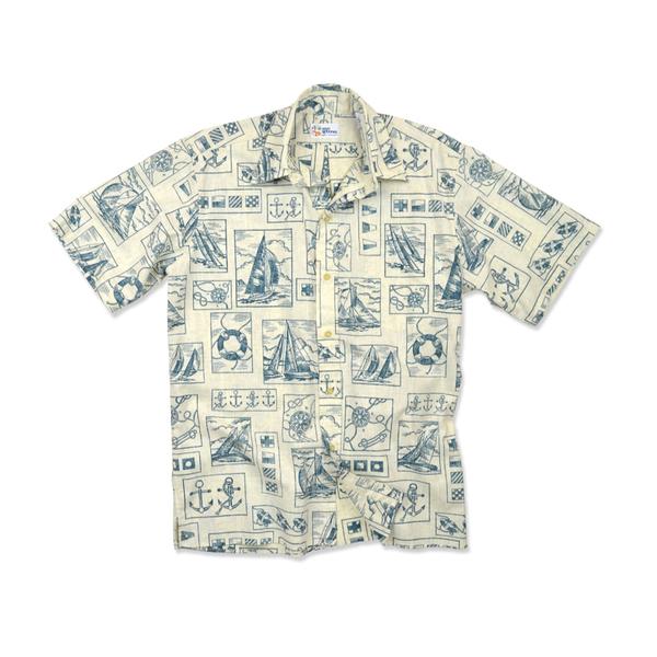 Reyn Spooner Men's Yachting Tapa Woven Shirt Tan