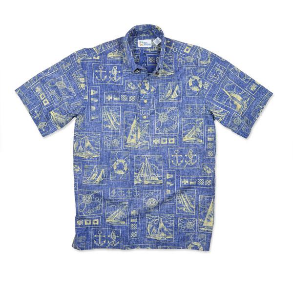 Reyn Spooner Men's Yachting Tapa Woven Shirt Navy Sale $66.75 SKU: 15991847 ID# 10012519205L :