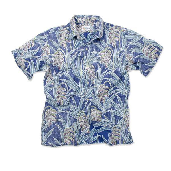 Reyn Spooner Men's Heliconia Fields Woven Shirt Navy