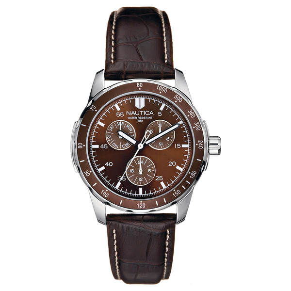 Nautica Windseeker Watch Brown Sale $95.00 SKU: 16010415 ID# N09550G UPC# 656086027716 :