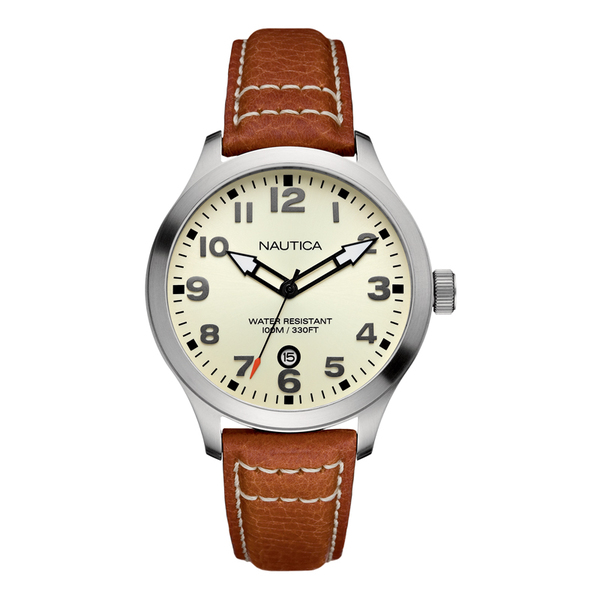 Nautica BFD 101 Date Watch Gray Sale $95.00 SKU: 16010423 ID# N09560G UPC# 656086040111 :