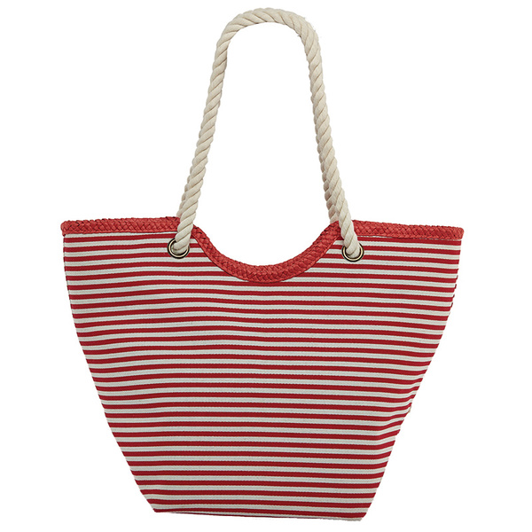 Dorfman Pacific Women's Nautical Stripe Tote Red Stripe Sale $29.99 SKU: 16082463 ID# WMBAG932-R/N UPC# 16698474269 :