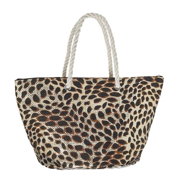 Dorfman Pacific Women's Animal Print Tote Brown Sale $16.88 SKU: 16082422 ID# WMBAG941-BRNLEO UPC# 16698474023 :