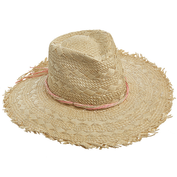 Dorfman Pacific Islander Straw Hat Coral Sale $17.88 SKU: 16082513 ID# WMCSW191-CORAL UPC# 16698473729 :