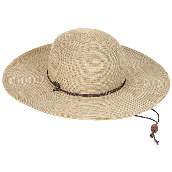 Dorfman Pacific Women's Large Brim Paper Braid Hat with Chin Cord Tan Sale $24.99 SKU: 16082521 ID# WMCSW202-TOAST UPC# 16698473736 :