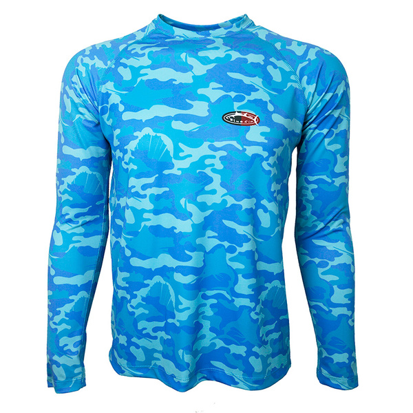 Bluefin Men's Camo Performance Tee Blue
