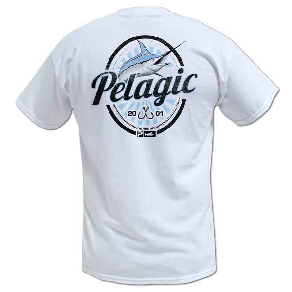 Pelagic men 39 s vintage marlin tee west marine for West marine fishing shirts