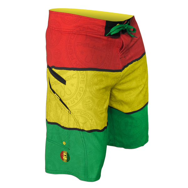 Pelagic Men's Red/yellow/green Madness Boardshorts