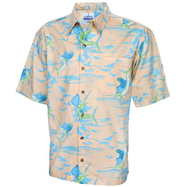 Guy Harvey Men's Sailfish Shadow Woven Shirt Orange Sale $58.00 SKU: 16272072 ID# MH79365-MEL-M UPC# 54683508391 :