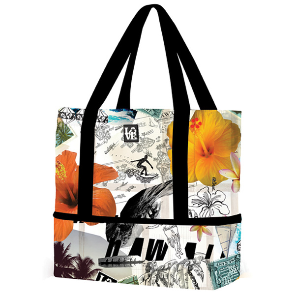 Love Bags Beach Tote Cooler Multi