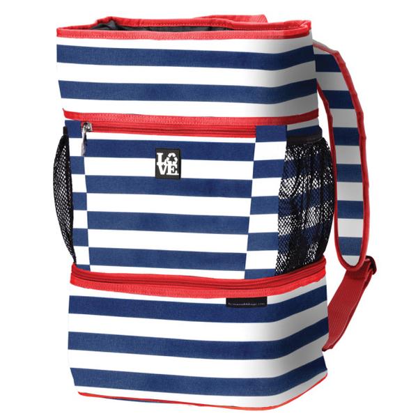 LOVE Backpack Cooler Navy/white