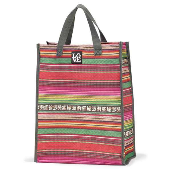 Love Reusable Bags Grocery Tote Pink Multi
