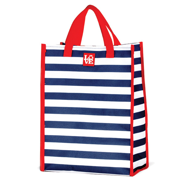 Love Reusable Bags Grocery Tote Navy/white