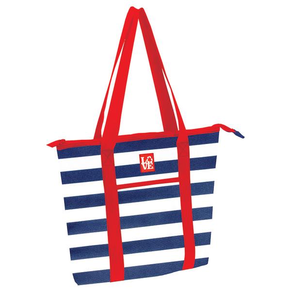 Love Reusable Bags Beach Bag Navy/white