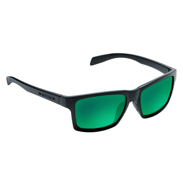 Native Eyewear Flatiron Reflex Polarized Sunglasses, Asphalt Frames with Gray/green Reflex Lenses Sale $129.00 SKU: 16273955 ID# 172 302 529 UPC# 764824014253 :