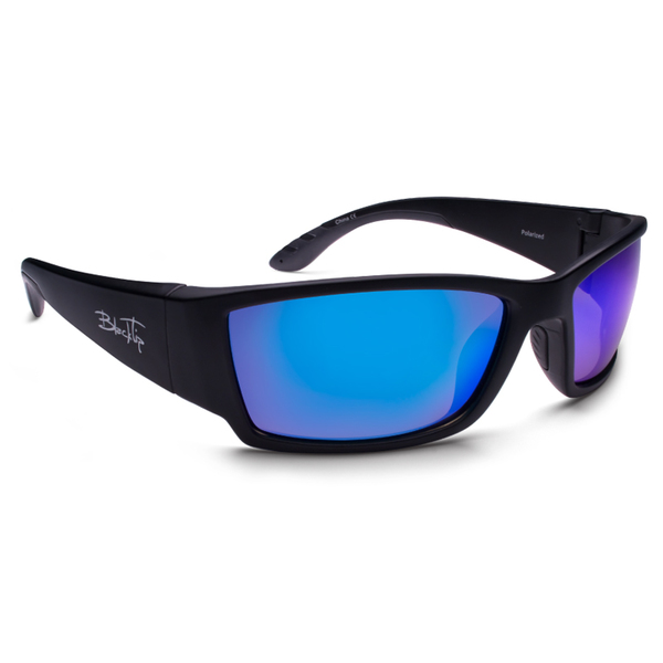 Blacktip Megladon Sunglasses, Matte Black/gray Frames with Gray Lenses
