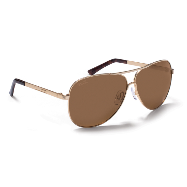 Blacktip Caetus Sunglasses, Pearl Gold frames with Brown Lenses Gold/brown