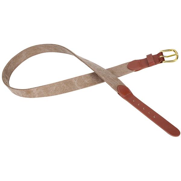 Leather Man Men's Washed Canvas Belt Brown Sale $44.99 SKU: 16285587 ID# 126-554-49 UPC# 610812045900 :