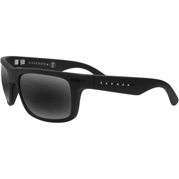 Kaenon Polarized Burnet G12 Black Label Sunglasses, Matte Black Frames with Gray Lenses