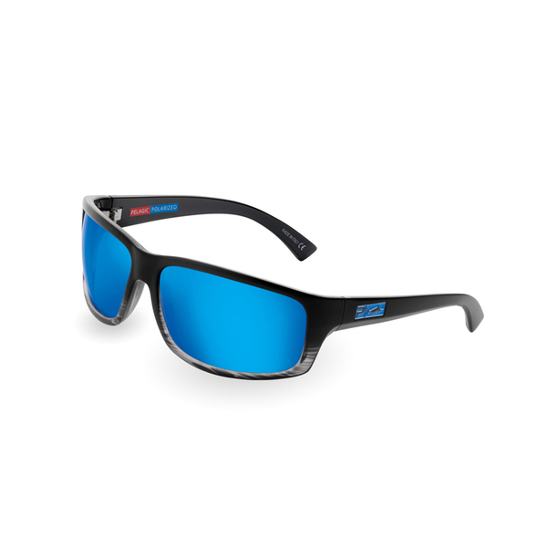 Pelagic Cruzer Sunglasses, Black/blue Smoke Frames with XP-700 OCEAN Lenses