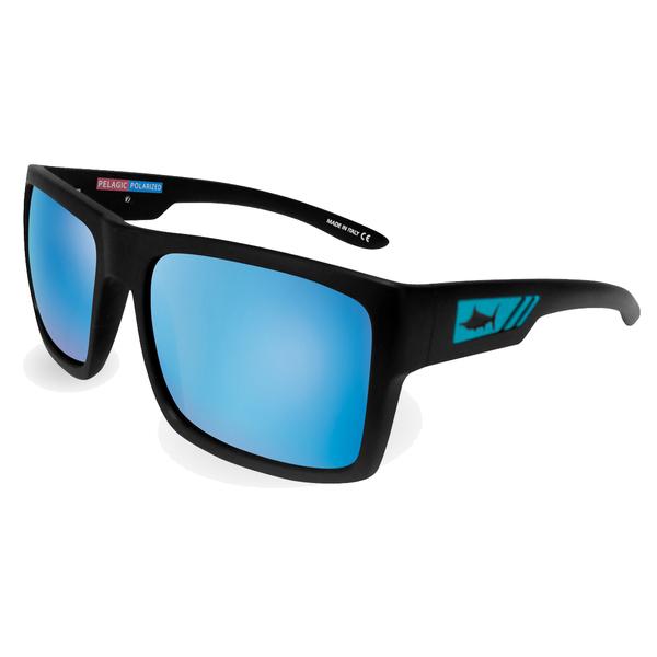 Pelagic Shark Bite Sunglasses, Matte Black/blue Frames with Ocean Lenses Sale $159.00 SKU: 16289043 ID# 1310-MB-BL-OCE UPC# 182206029549 :