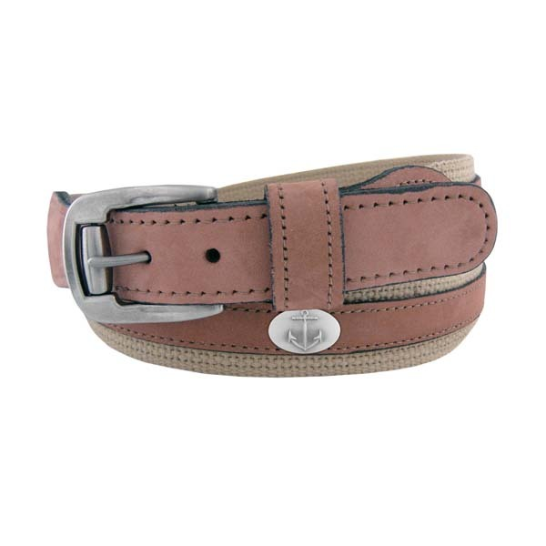 Wm Belt Men's Anchor Concho Belt Brown