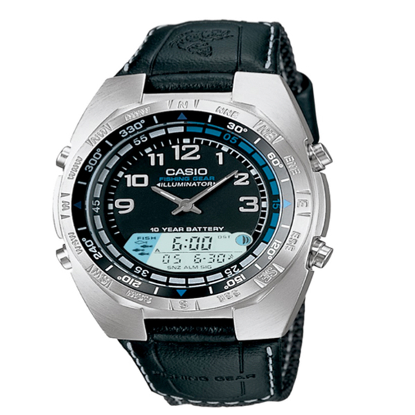 Casio Analog-Digital Fishing Timer Watch Black