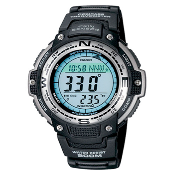 Casio Digital Compass Twin Sensor Watch Black