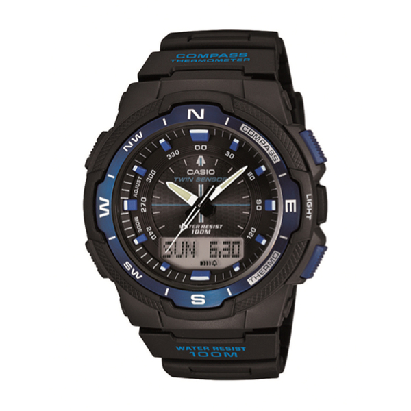 Casio Twin Sensor World Time Watch Black