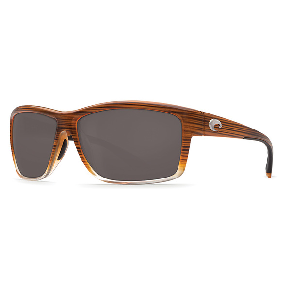 Costa Mag Bay Sunglasses, Brown Fade Frames with Gray 580P Lenses